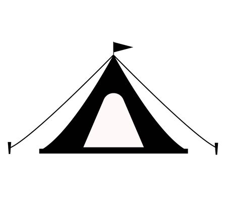 tent icon on white background. flat style. tourist tent icon for your web site design, app, UI. tent camping symbol. tent sign.