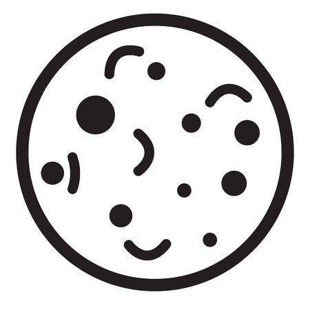 bacteria icon on white background. flat style. bacteria icon for your web site design, Иллюстрация