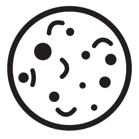 bacteria icon on white background. flat style. bacteria icon for your web site design, Ilustração