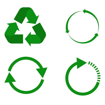 recycle icon on white background. flat style. set recycle icon for your web site design,