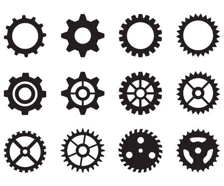 gear wheels icon on white background. flat style. gear icon for your web site design, logo, app, UI. icon cogwheel symbol. gear icons set.