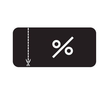 discount ticket icon on white background. flat style. shopping voucher icon for your web site design, app, UI. coupon symbol. ticket on sale sign.