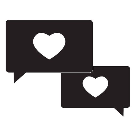 compassion icon on white background. flat style. speech bubble with heart icon for your web site design, app, UI. compassion symbol. compassion sign. Ilustração