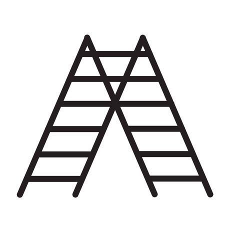 stairs icon on white background. flat style. double ladder icon for your web site design, app, UI. double ladder symbol. stairs sign.