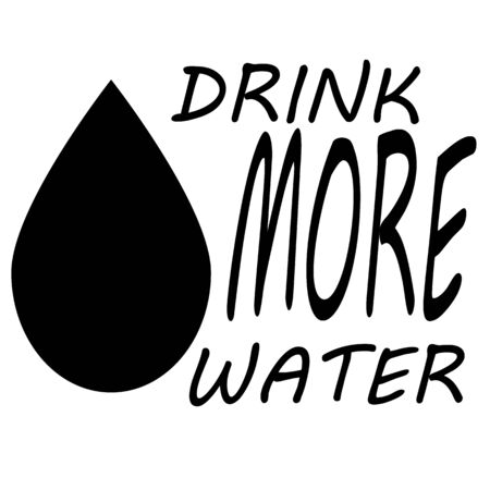 Drink More Water icon on white background. flat style. Drink More Water icon for your Banner, postcard, poster, stickers, tag. Drink More Water symbol.