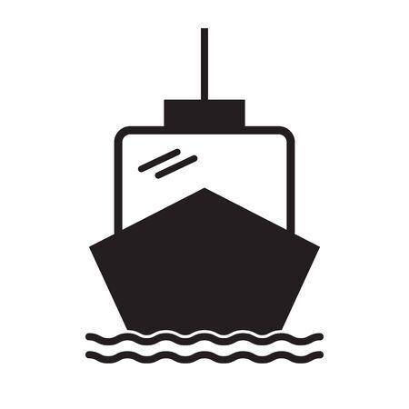 boat icon on white background. flat style. ship boat icon for your web site design, app, UI. ship boat symbol. boat sign. Ilustração