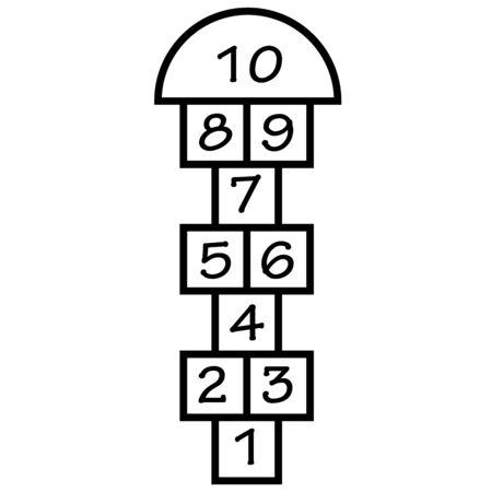 hopscotch icon on white background. flat style. hopscotch game symbol. hopscotch sign.