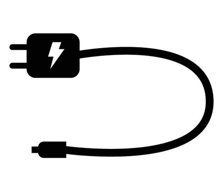 mobile charger icon on white background. flat style. mobile charger icon for your web site design, logo, app, UI. mobile charger electronic device sign. Stockfoto - 132170656