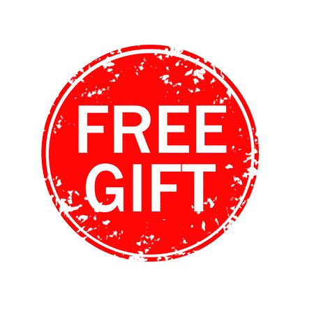 free gift sign. free gift grunge rubber stamp on white background. Banco de Imagens