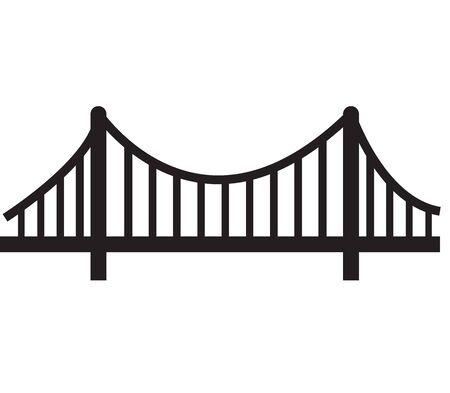 bridge icon on white background. flat style. simple bridge logo. building sign.