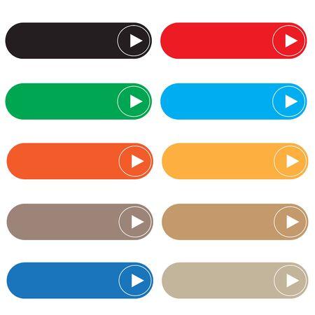 botón vacío sobre fondo blanco. estilo plano. elementos web rectangulares establecidos para el diseño de su sitio web, logotipo, aplicación, interfaz de usuario. símbolo de botones web. conjunto de botones en blanco.