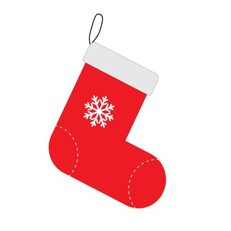 christmas sock icon on white background. flat style. sock icon for your web site design, app, UI. christmas sock symbol. sock sign.