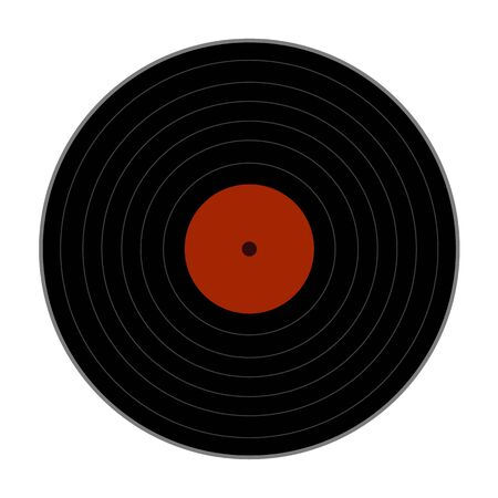 vinyl record icon on white background. flat style. vinyl record icon for your web site design, app, UI. music symbol. Vinyl 33rpm record sign.