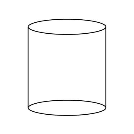 icône de contour de figure géométrique de cylindre sur fond blanc. signe de cylindre 3d. style plat. vecteur de contour du symbole de figures géométriques. signe de style linéaire d'illustration vectorielle pour la conception de votre site Web, application, interface utilisateur. Vecteurs