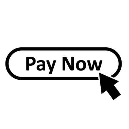 pay now icon on white background. flat style. pay now button for your web site design, app, UI. pay now symbol.