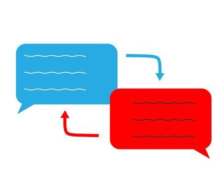 translation icon on white background. flat style. translation icon for your web site design, logo, app, UI. translation speech symbol. translation speech sign. Ilustracja