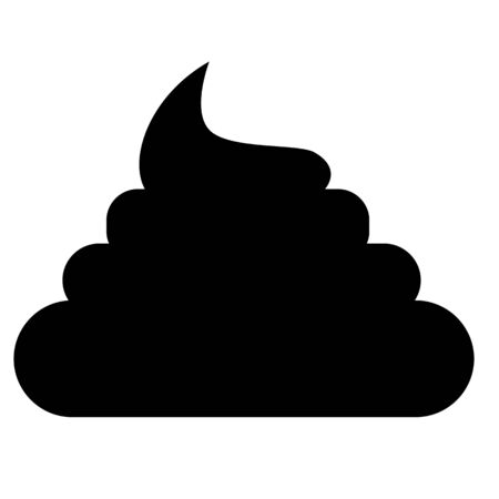 pile of shit icon on white background. flat style. poo icon for your web site design, logo, app, UI. poo symbol. concept of unhygienic.