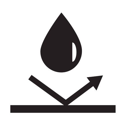 waterproof icon on white background. flat style. water protection icon for your web site design, logo, app, UI. waterproof protection symbol. water repellent surface sign.