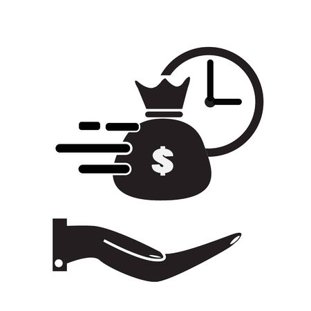 quick and easy loan icon on white background. flat style. fast money providence icon for your web site design, logo, app, UI. easy instant credit symbol. fast money sign.