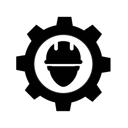 engineer icon on white background. flat style. civil engineer icon for your web site design, logo, app, UI. technician symbol. service sign. repairman icon.