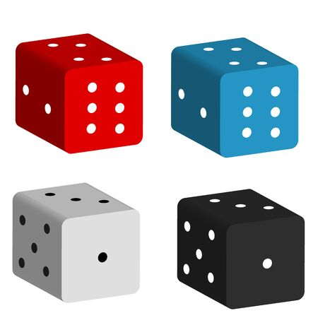 game dice icon on white background. flat style. casino gambling icon for your web site design, logo, app, UI. casino dice symbol. game dice set. Logo