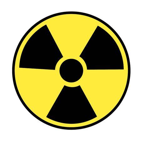 radio active icon on white background. flat style. radiation icon for your web site design, logo, app, UI. round radiation hazard sign. Illusztráció