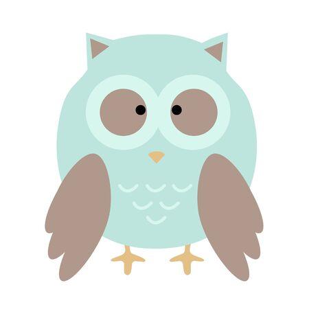 owl cute in vector. cartoon owl.  Illustration