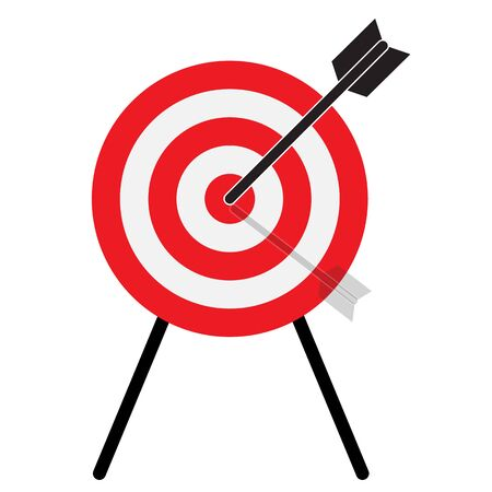 target arrow strategy research icon. target with arrow sign. logos for achieve goals symbol. Logo