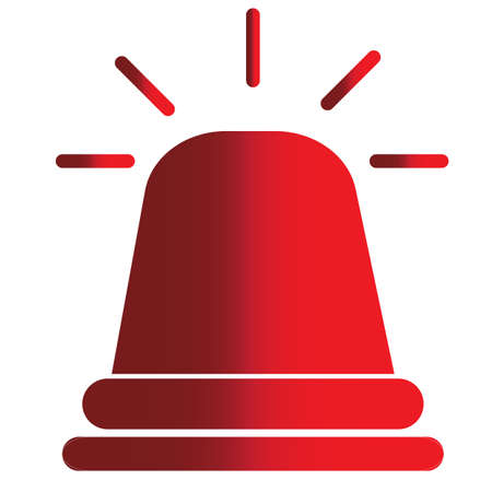 emergency siren icon on white background. flat style. police alarm icon for your web site design, app, UI. ambulance alarm symbol. warning sign.
