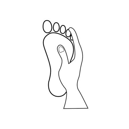 foot massage icon on white background. foot massage spa sign. female or male foot sole symbol.