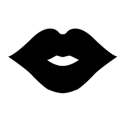 lips icon on white background. cosmetic logo. mouth sign. flat style.