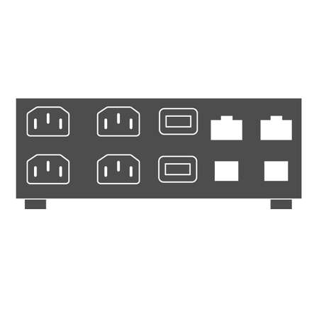 ups icon on white background. uninterruptible power supply sign. ups simple symbol. flat style.