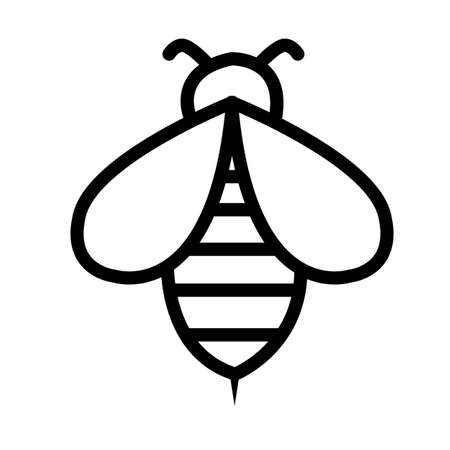 bee icon on white background. bee logo. flat style. honey and bee sign.