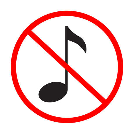 no music note icon on white background. flat style. no musical note symbol.
