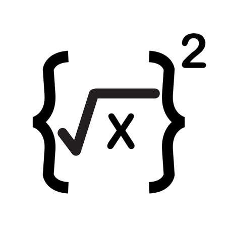 math formula icon on white background. formula I symbol. math formula sign. flat style.