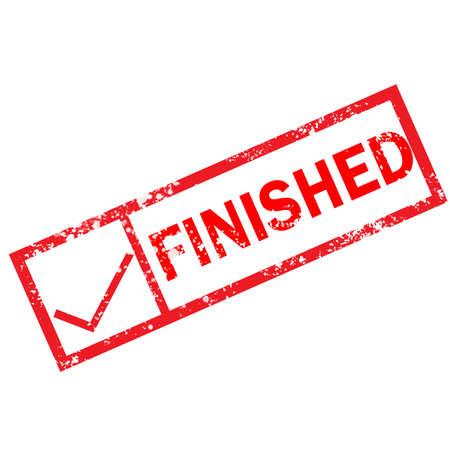 finish stamp sign. finish grunge rubber stamp on white background. 版權商用圖片