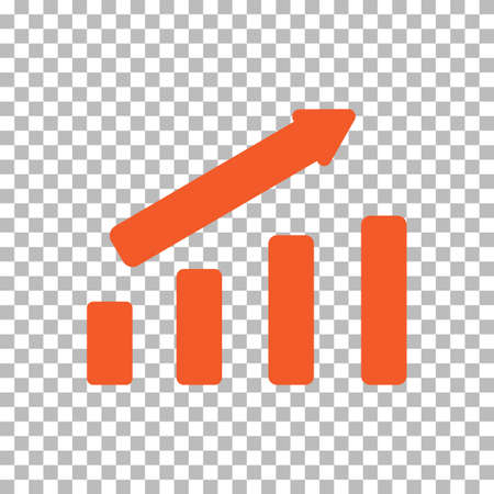graph icon on transparent background. graphic sign. chart symbol. line chart icon. 版權商用圖片 - 156224659