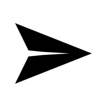 send message icon on white background. flat style. paper plane sign. sending message symbol.