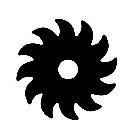 saw blade icon on white background. flat style. wood saw blade sign.