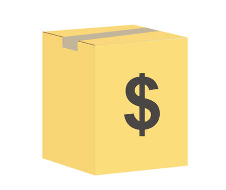 business package icon on white background. money fully editable sign. business box symbol.