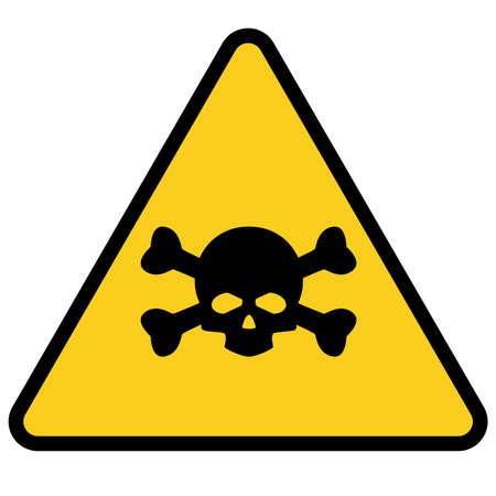 malware attention hazard on white background. danger warning circle sign. radiation symbol.