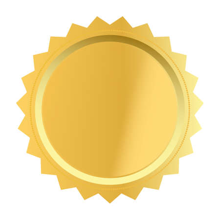 blank award with golden icon on white background. golden award medal sign. golden label symbol. flat style.