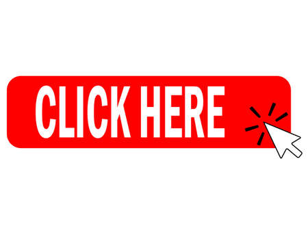 click here button with arrow pointer clicking icon. click here button sign. flat style.