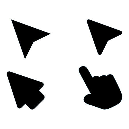 arrows click icon on white background. mouse click cursor sign. flat style. pointer cursor mouse. computer mouses symbol.