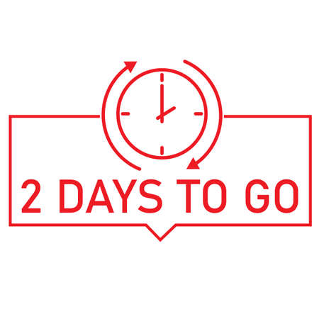 2 day to go last countdown icon on white background. 2 day to go sign. flat style. 2 day only. marketing discount banner symbol.