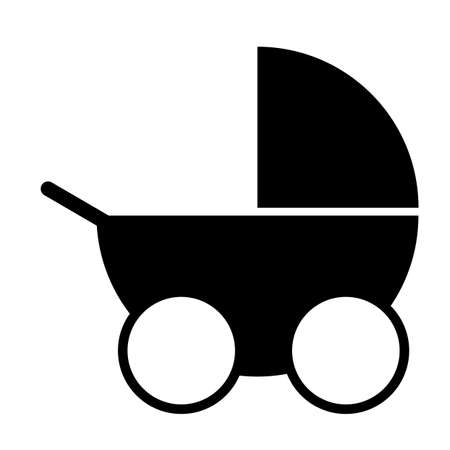 stroller icon on white background. Stroller sign. carriage symbol. flat style.