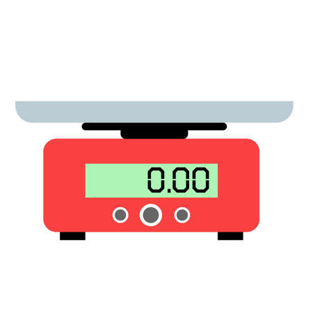 food weight kitchen on white background. domestic weigh scale food balance sign. food scale symbol. flat style. digital food scale. 版權商用圖片 - 159161572
