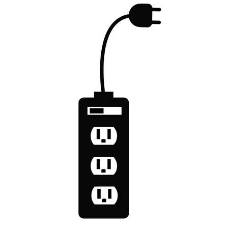 electrical plugin icon on white background. adapter sign. charge symbol.