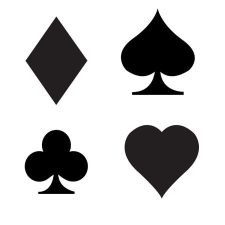 card suits icon on white background. playing cards sign. gaming card symbol. flat style.