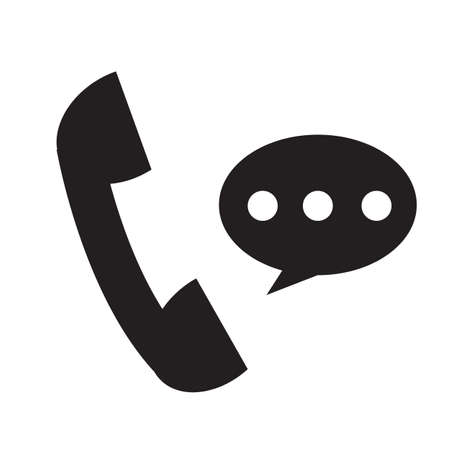 telephone receiver icon on white background. phone receiver sign. talking on phone symbol. social media and network logo. flat style. Çizim